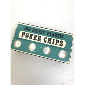 Vintage Poker Chips 100 Count Crisloid Plastics
